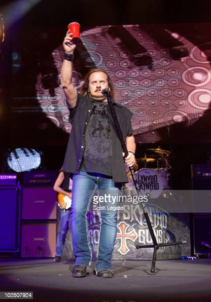 Johnny Van Zant of Lynyrd Skynyrd performs at the Verizon Wireless Music Center on June 27 2010 in Noblesville Indiana