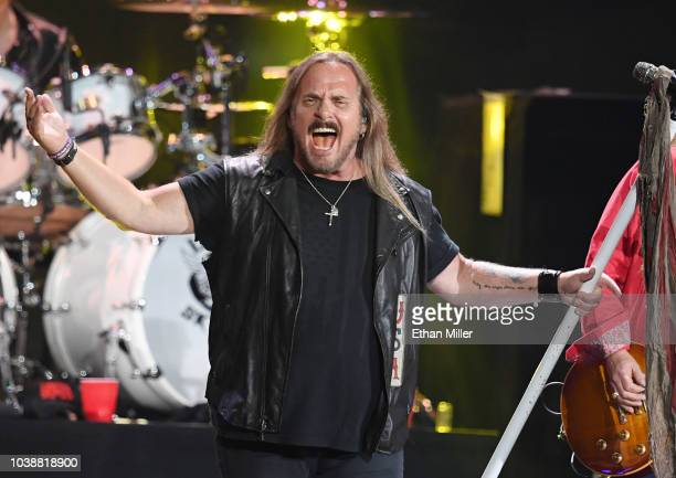 Johnny Van Zant of Lynyrd Skynyrd performs during the 2018 iHeartRadio Music Festival at TMobile Arena on September 22 2018 in Las Vegas Nevada