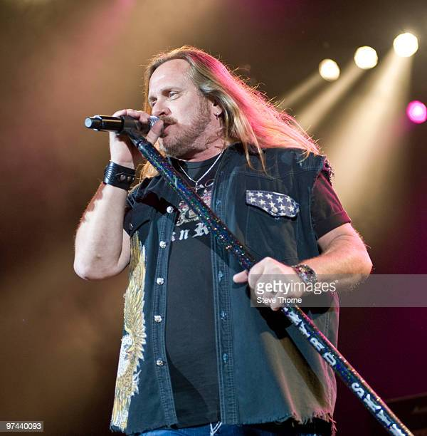 Johnny Van Zant of Lynyrd Skynyrd performs on stage at LG Arena on March 4, 2010 in Birmingham, England.