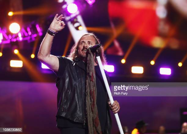 Johnny Van Zant of Lynyrd Skynyrd performs onstage during the 2018 iHeartRadio Music Festival at TMobile Arena on September 22 2018 in Las Vegas...