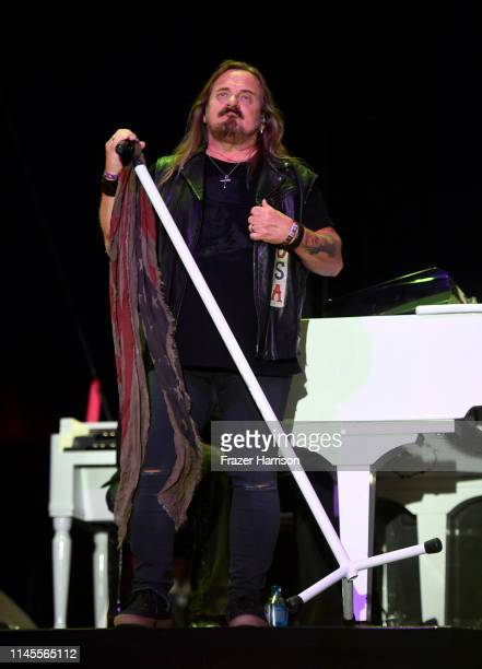 Johnny Van Zant of Lynyrd Skynyrd performs onstage during the 2019 Stagecoach Festival at Empire Polo Field on April 27 2019 in Indio California