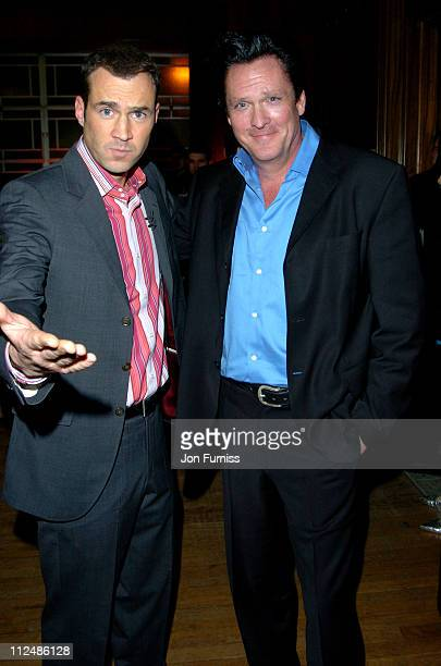 Johnny Vaughn and Michael Madsen during Sony Ericsson Empire Film Awards - Press Room at Guildhall in London, Great Britain.