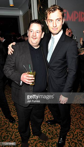 Johnny Vegas and Jude law attends the Jameson Empire Film Awards at The Grosvenor House Hotel on March 28 2010 in London England