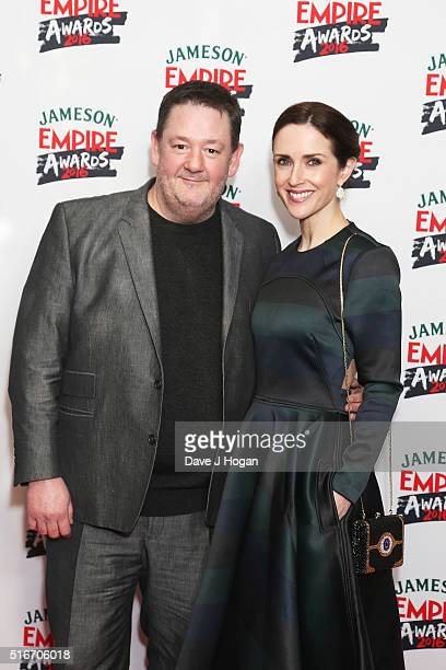 Johnny Vegas and Maia Dunphy attend the Jameson Empire Awards 2016 at The Grosvenor House Hotel on March 20, 2016 in London, England.