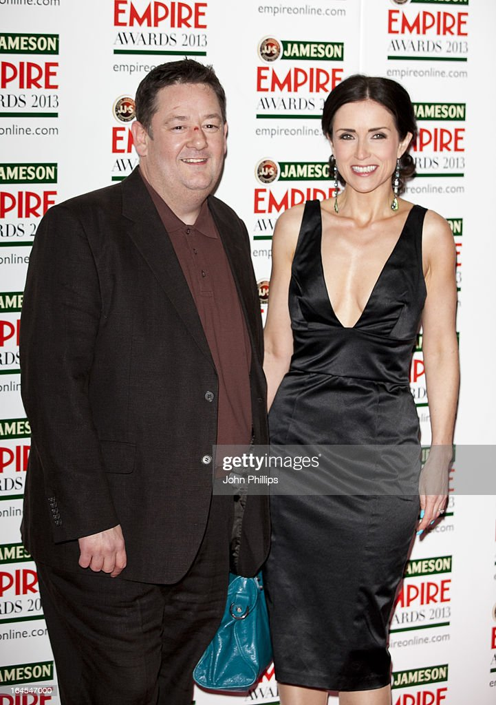Johnny Vegas and Maia Dunphy attends the 18th Jameson Empire Film Awards at Grosvenor House, on March 24, 2013 in London, England.