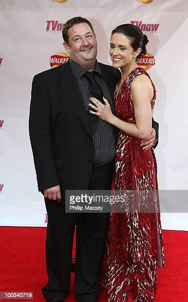 Johnny Vegas and partner attend the TV Now Awards on May 22 2010 in Dublin Ireland