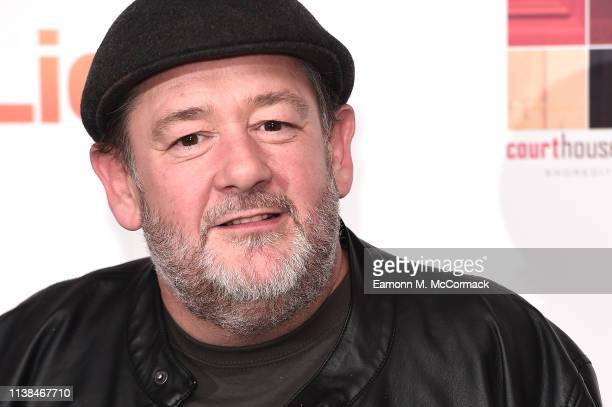 """Johnny Vegas attends the """"Eaten By Lions"""" UK premiere at The Courthouse Hotel on March 26, 2019 in London, England."""