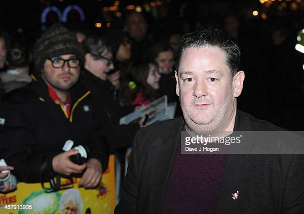 """Johnny Vegas attends """"The Harry Hill Movie"""" World Premiere at Vue Leicester Square on December 19, 2013 in London, England."""