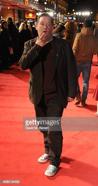 Johnny Vegas attends 'The Harry Hill Movie' World Premiere at Vue Leicester Square on December 19 2013 in London England
