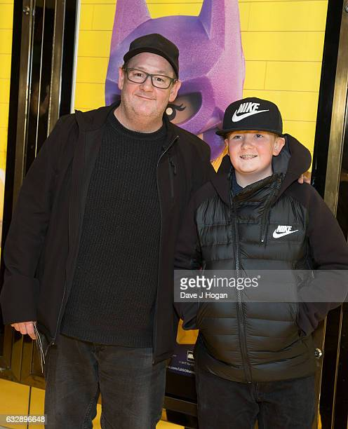 """Johnny Vegas attends """"The Lego Batman Movie"""" - Red Carpet Arrivals on January 28, 2017 in London, United Kingdom."""