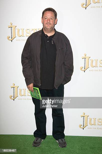 Johnny Vegas attends the UK Premiere of 'Justin and the Knights of Valour' at May Fair Hotel on September 8 2013 in London England