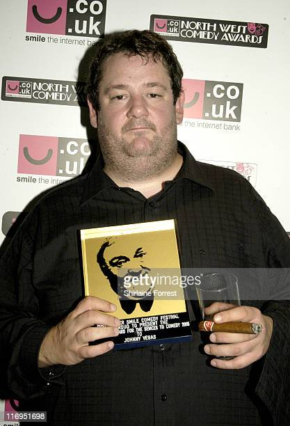 Johnny Vegas during North West Comedy Awards October 28 2005 at Piccadilly Hotel in Manchester Great Britain