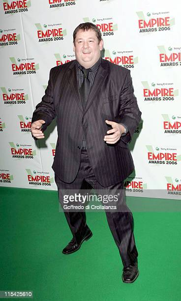 Johnny Vegas during Sony Ericsson Empire Film Awards 2006 Inside Arrivals at Hilton London Metropole in London Great Britain
