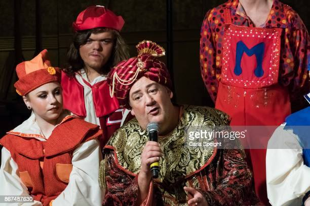 Johnny Vegas during the press launch for Show White and the Seven Dwarfs pantomime at Arthouse Square on October 27 2017 in Liverpool England