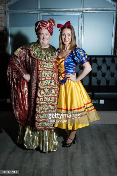 Johnny Vegas Lucy Jo Hudson during the press launch for Show White and the Seven Dwarfs pantomime at Arthouse Square on October 27 2017 in Liverpool...