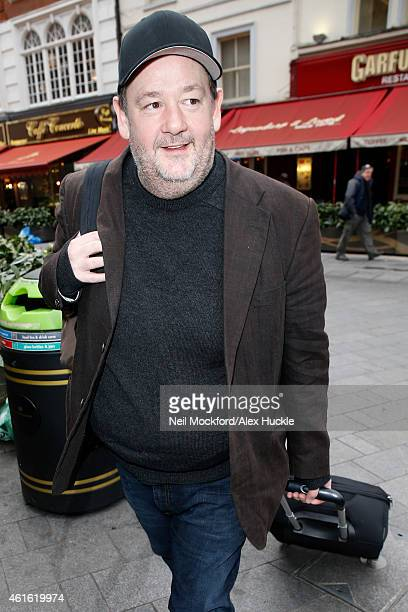 Johnny Vegas seen arriving at the Global Radio Studios Leicester Square on January 16 2015 in London England Photo by Neil Mockford/Alex Huckle/GC...