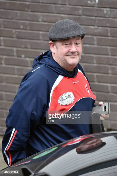 Johnny Vegas seen at the ITV Studios on April 13, 2018 in London, England.