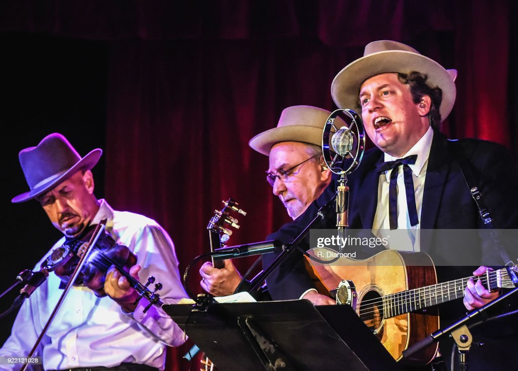 Johnny Warren, Charlie Cushman and Shawn Camp of Earls of Leicester perform at City Winery on February 20, 2018 in Atlanta, Georgia.