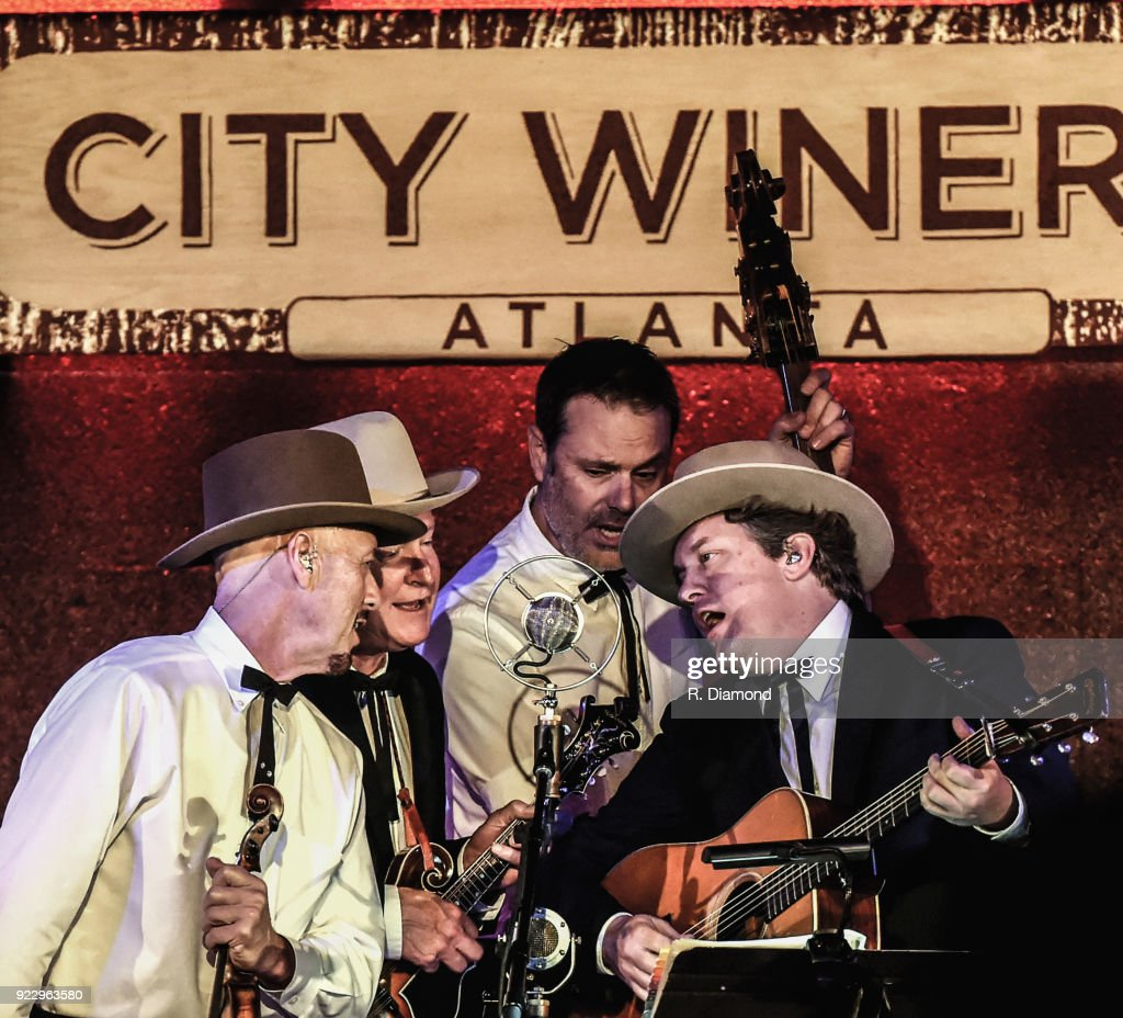 Johnny Warren, Jeff White, Barry Bates and Shawn Camp of Earls of Leicester perform at City Winery on February 20, 2018 in Atlanta, Georgia.
