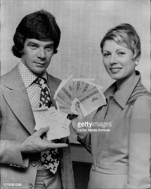 Johnny Warren Mrs Brothers holding the winning tickets amp the Prize ticketsWorld cup soccer Art union 1st 6 prizes are return flights to the world...