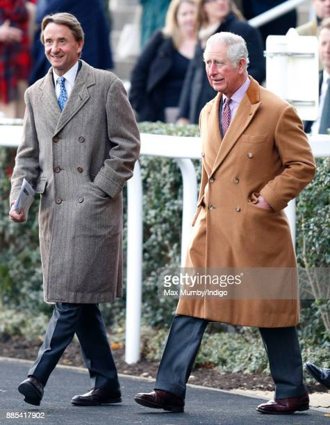 Johnny Weatherby and Prince Charles Prince of Wales attend The Prince's Countryside Fund Raceday at Ascot Racecourse on November 24 2017 in Ascot...