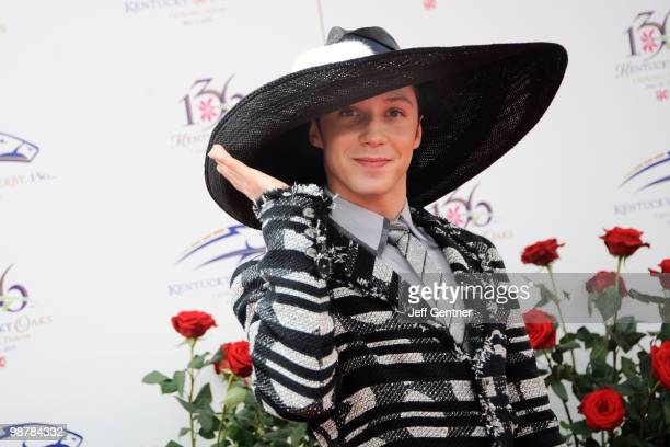 Johnny Weir attends the 136th Kentucky Derby on May 1 2010 in Louisville Kentucky