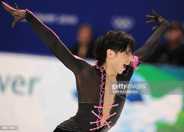 US Johnny Weir competes in his Figure Skating men's short program at the Pacific Coliseum in Vancouver during the 2010 Winter Olympics on February 16...