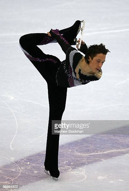 Johnny Weir competes in his Free program during the 2006 State Farm U.S. Figure Championships at the Savvis Center on January 14, 2006 in St. Louis,...