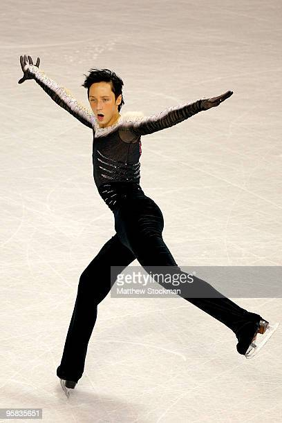 Johnny Weir competes in the free skate during the US Figure Skating Championships at Spokane Arena on January 17 2010 in Spokane Washington