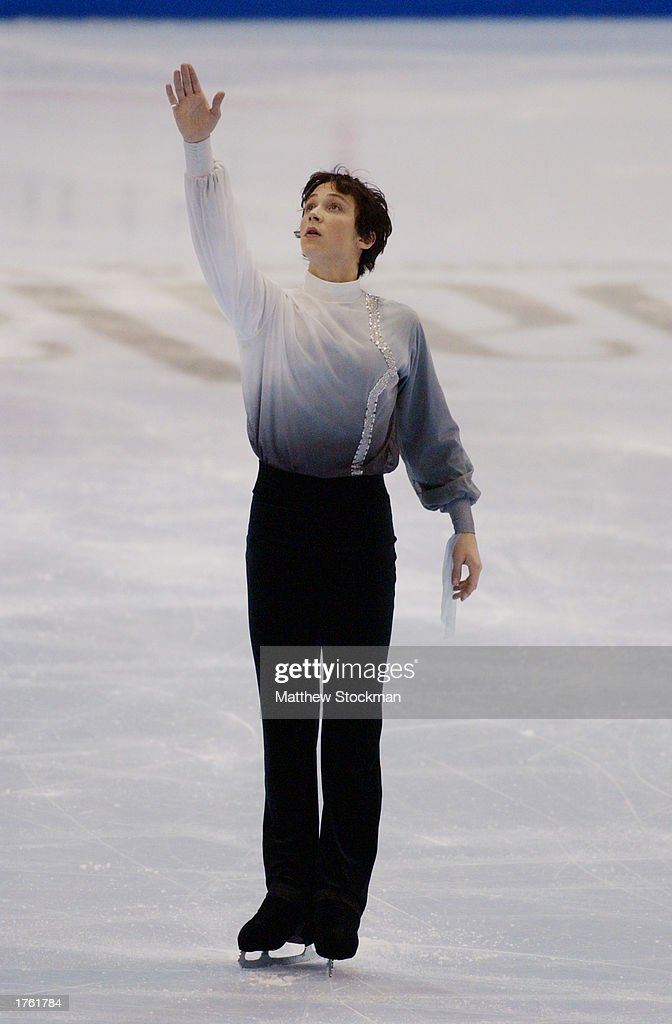 Johnny Weir competes in the free skate program during the State Farm US Figure Skating Championships on January 18, 2003 at the American Airlines Center in Dallas, Texas.