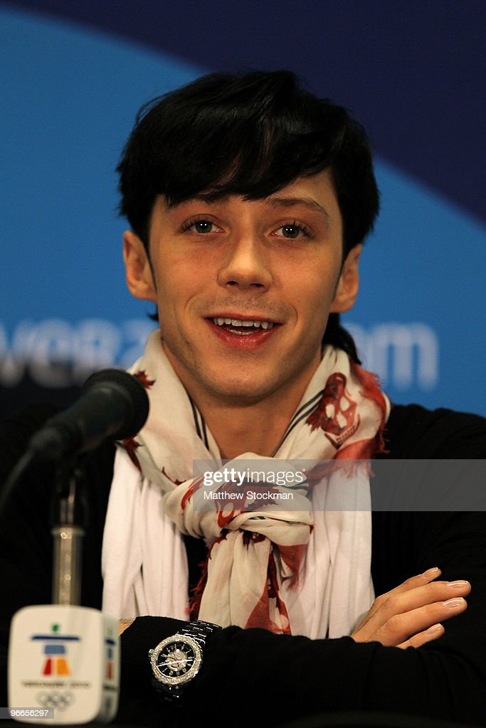 Johnny Weir of United States speaks at the United States Olympic Committee Figure Skating Men Press Conference at the Main Press Centre during the Vancouver 2010 Winter Olympics on February 13, 2010 in Vancouver, Canada.