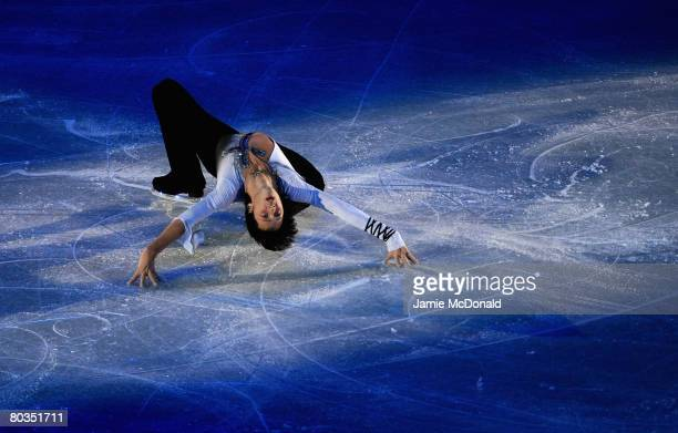Johnny Weir of USA performes in the Gala during the ISU World Figure Skating Championships at the Scandinavium Arena on March 23 2008 in Gothenburg...