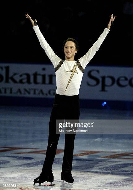 Johnny Weir participates in the Chevy Skating Spectacular during the State Farm US Figure Skating Championships January 11 2004 at Philips Arena in...
