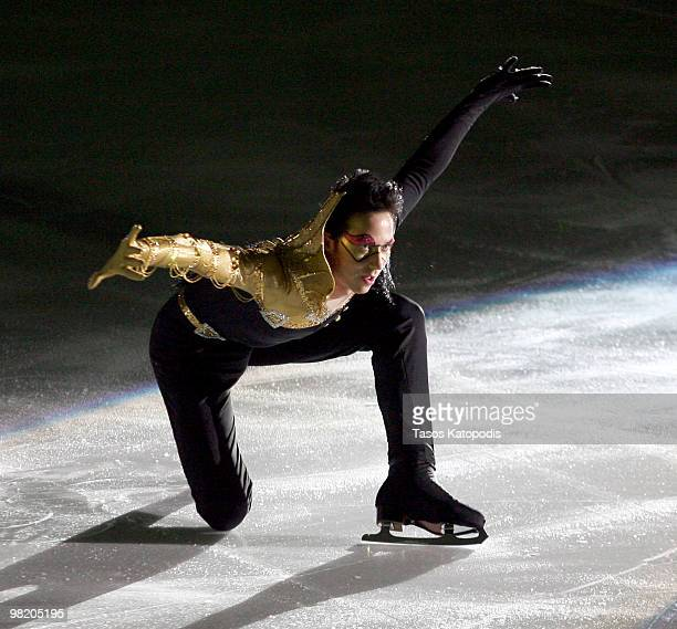 """Johnny Weir performs at """"Ice Dreams"""" at the Edge Ice Arena on April 1, 2010 in Bensenville, Illinois."""