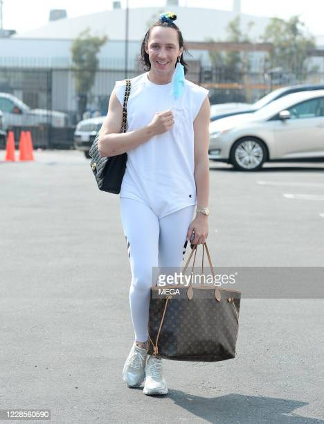 Johnny Weir seen arriving at the 'Dancing with the Stars' studio on September 16 2020 in Los Angeles California