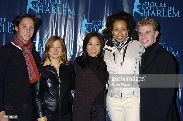 Johnny Weir Sharon Cohen Michelle Kwan Tamara Tunie and Timothy Goebel
