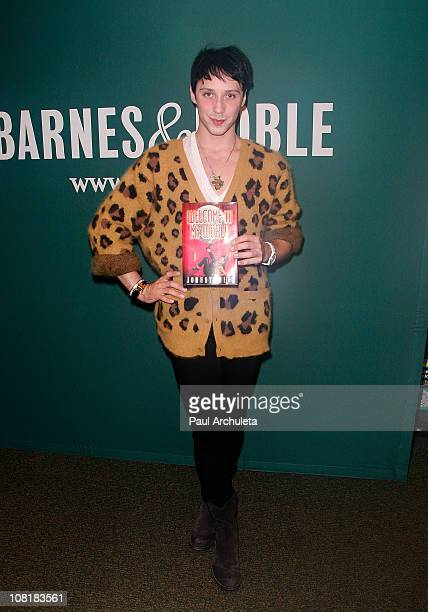 """Johnny Weir signs copies of his new book """"Welcome To My World"""" at Barnes & Noble bookstore at The Grove on January 19, 2011 in Los Angeles,..."""