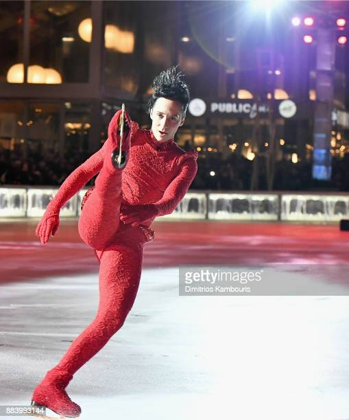 Johnny Weir skates during the Bank of America Winter Village at Bryant Park's Annual Tree Lighting Skatetacular on December 1 2017 in New York City