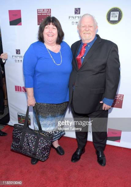 Johnny Whitaker and guest attend the 4th annual Roger Neal Oscar Viewing Dinner Icon Awards and after party at Hollywood Palladium on February 24...