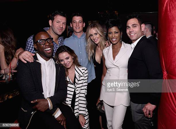 Johnny Wright Tony Romo Keleigh Sperry Miles Teller Candice CrawfordRomo Tamron Hall and Eric Podwall attend Eric Podwall's exclusive cocktail...