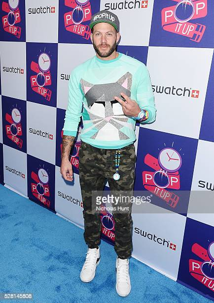 A Night Of POP Store Opening at Swatch Store Times Square on May 3 2016 in New York City