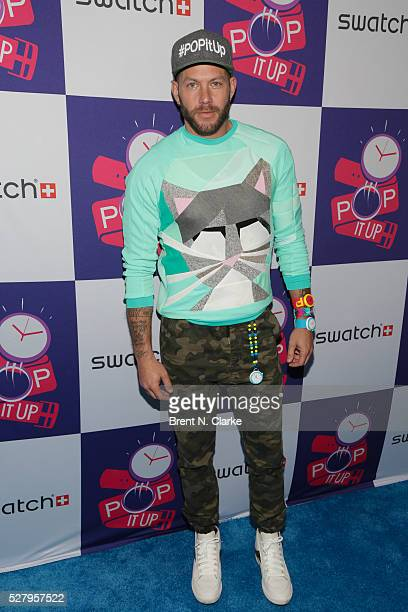 Johnny Wujek attends the Swatch Times Square flagship store opening and launch of the POP Collection on May 3 2016 in New York City