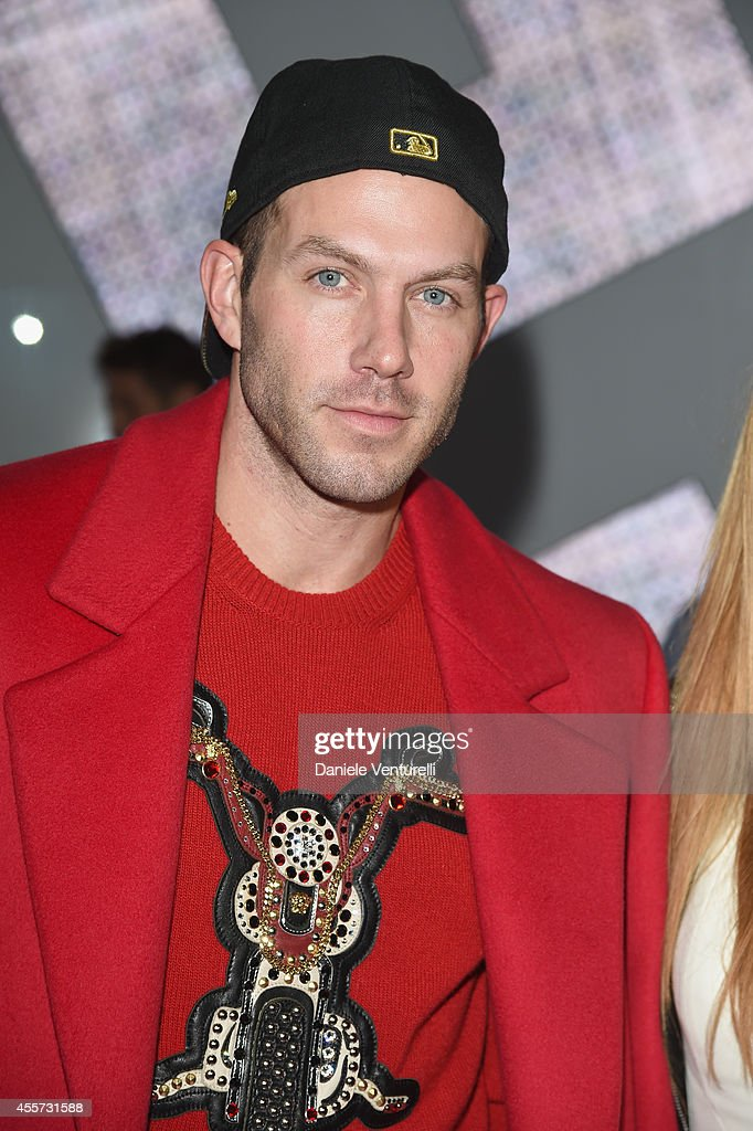 Johnny Wujek attends the Versace show during the Milan ...