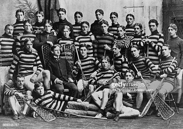 Johns Hopkins University lacrosse team group portrait Johns Hopkins University Baltimore Maryland 1897