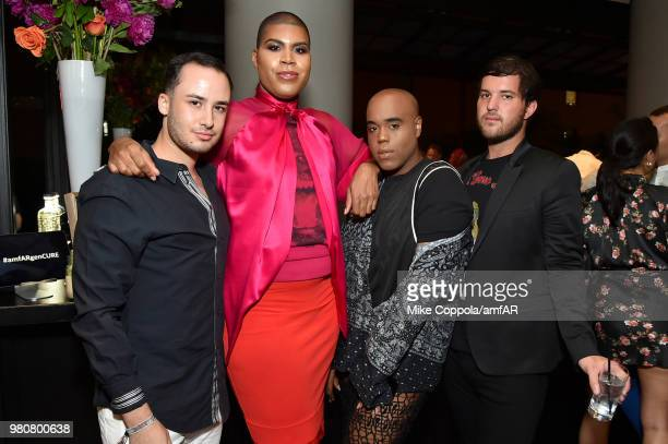 Johnson and Andrew Warren attend the amfAR GenCure Solstice 2018 on June 21 2018 in New York City