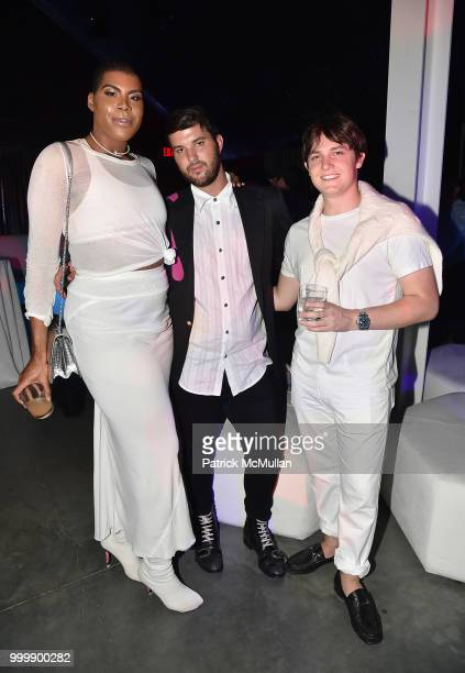 Johnson and Andrew Warren attend the Parrish Art Museum Midsummer Party 2018 at Parrish Art Museum on July 14 2018 in Water Mill New York