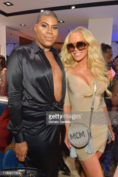 Johnson and Gigi Gorgeous attends the MCM Rodeo Drive Store Grand Opening Event at MCM Rodeo Drive on March 14 2019 in Beverly Hills California