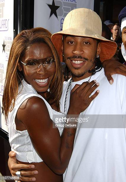AJ Johnson and Ludacris during The 3rd Annual BET Awards Arrivals at The Kodak Theater in Hollywood California United States
