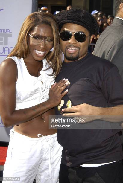 AJ Johnson and Musiq during The 3rd Annual BET Awards Arrivals at The Kodak Theater in Hollywood California United States