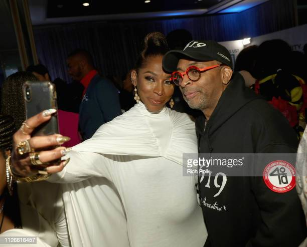 J Johnson and Spike Lee attend the 2019 Essence Black Women in Hollywood Awards Luncheon at Regent Beverly Wilshire Hotel on February 21 2019 in Los...